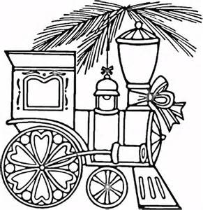 christmas train coloring page supercoloring com