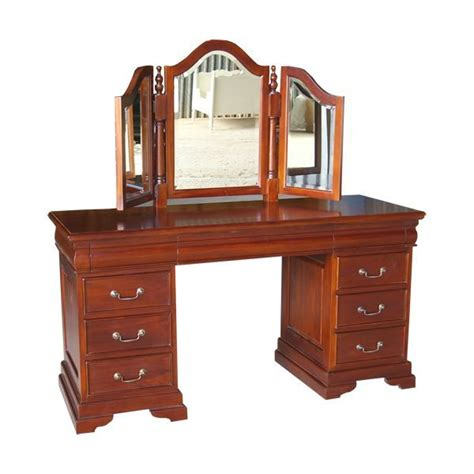 sleigh dressing table mirror and stool
