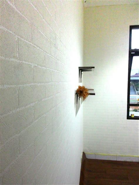 jual wallpaper dinding batu bata putih  lapak keiko