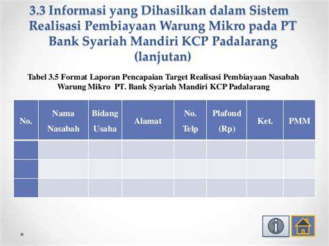 membuat rekening bank mandiri syariah ppt sidang pkl yola bismillah