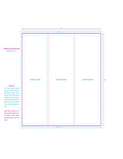 tri fold calendar template standard tri fold brochure template free