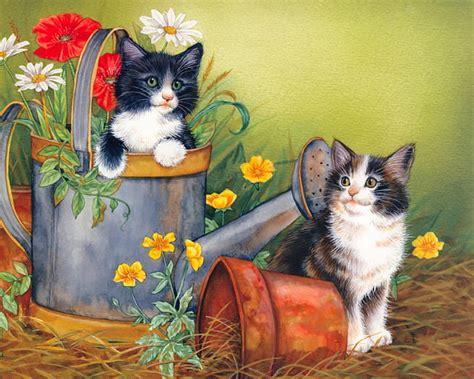 painting kitten kitten paintings maday