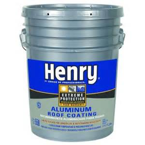 roof coating home depot henry 4 75 gal 558 aluminum roof coating he558018 the