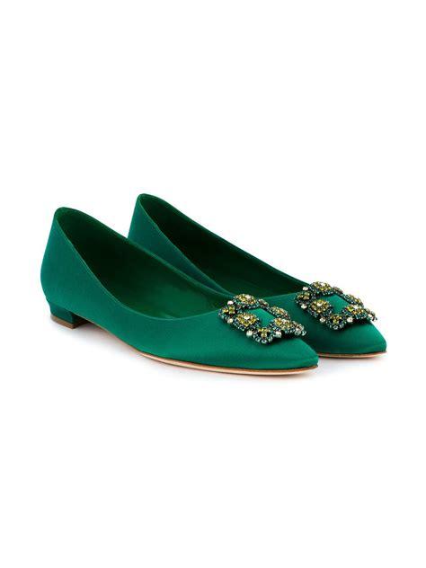 Shoes Manolo Blahnik 1129 2a manolo blahnik green hangisi buckle satin pumps manolo