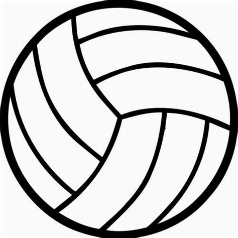 printable vector images enjoyable design ideas volleyball outline ball clipart