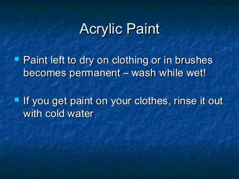 acrylic paint permanent on clothes acrylic painting tips general use