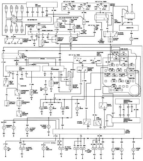 auto wiring diagram  caddillac de ville wiring diagram