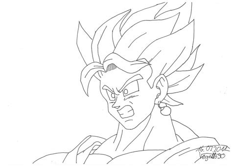 vegito coloring pages coloring pages