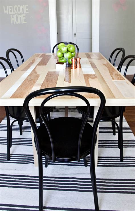 diy dining room tables diy six seat dining room table a beautiful mess