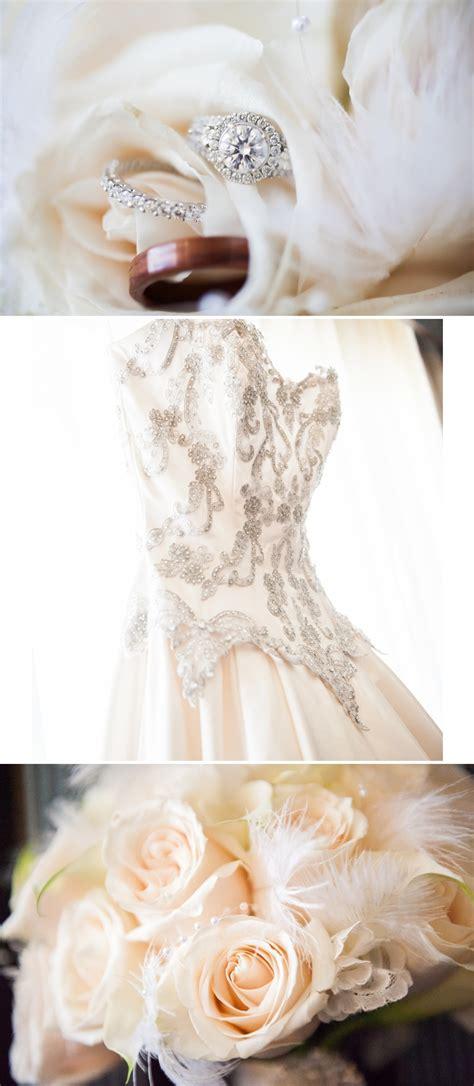 vintage inspired wedding in los angeles classic beaded