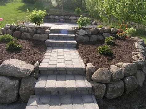 building a pit with pavers 50 best images about hillside pit ideas to build on