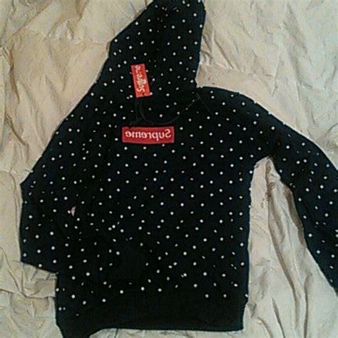 Supreme Polkadot Navy 90 supreme tops supreme hoodie new with tags polka dot box logo from s s closet on poshmark