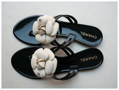 Chanel Flowers Slippers chanel camellia flower jelly sandals in black shoes and bags chanel