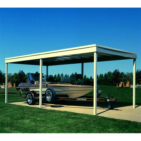 arrow vinyl coated steel carport 10 ft x 20 ft shop