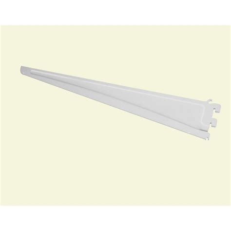 closetmaid shelftrack 20 in x 5 in white shelf bracket