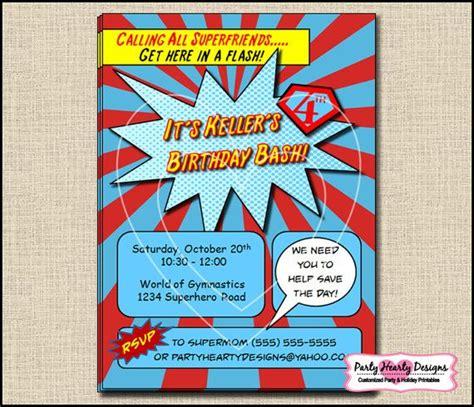 printable superhero stationery customized printable superhero party invitations
