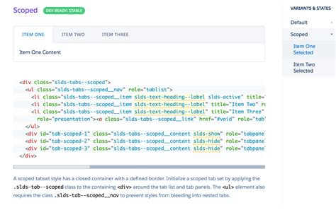 javascript pattern tab javascript how to code scoped tabs in lightning design
