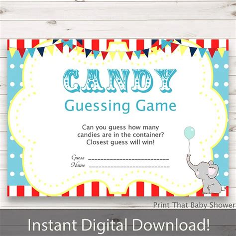 Guessing Baby Shower by Baby Shower Guessing Circus Baby Shower