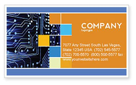 circuit card template circuit board business card template layout