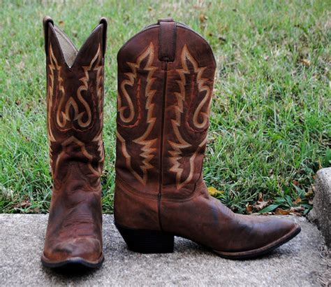 Country Boots Original Handmade Brown Black justin cowboy boots brown pointed toe fancy stitch