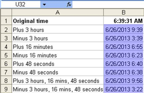 format excel hours and minutes tom s tutorials for excel adding and subtracting time in