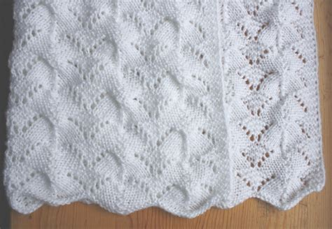 all knitted lace reversible lace baby blanket pattern release