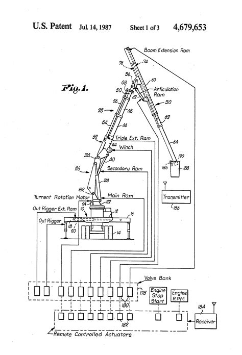patent us4679653 highly maneuverable insulated lifting aerial crane for use in servicing