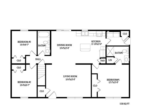 3 bed 2 bath floor plans fascinating 2 bedroom ranch floor plans ideas including