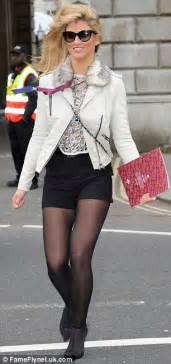 Queen Anne Style by Amy Willerton Wears Tiny Black Shorts And Tights As She