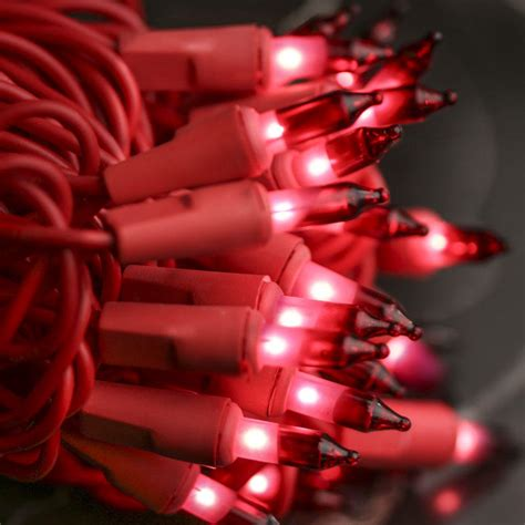 red bulb and red cord valentine s day string lights