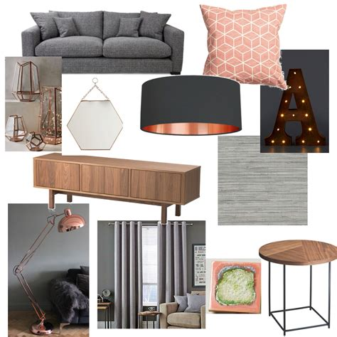 room decore grey blush copper living room new home pinterest
