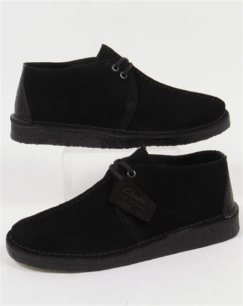 clarks originals black suede desert clarks originals desert trek shoes in suede black