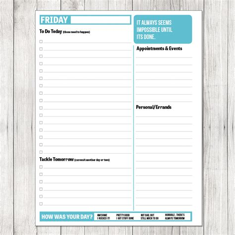 printable planner templates 2014 8 best images of printable daily planner template 2014