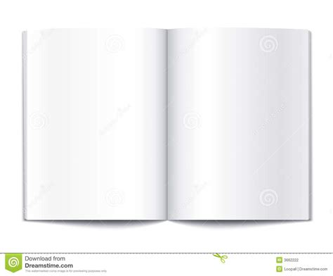 book template for pages blank book pages template stock vector image of note
