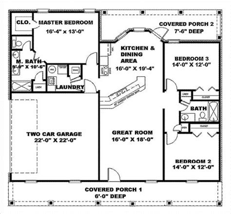 simple cottage plans simple house plans with great room 1500 sq ft house