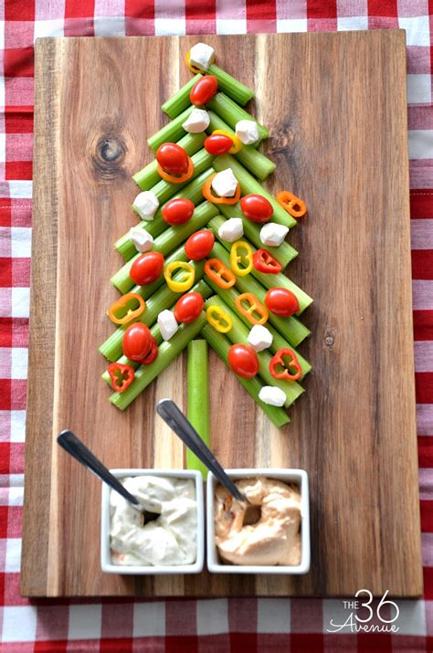 edible christmas tree and veggie dip the 36th avenue