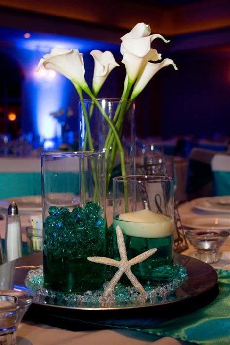 beach themed wedding centerpiece ideas wedding and