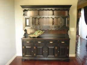 Kitchen Furniture Hutch by European Paint Finishes Rustic Black Farmhouse Hutch
