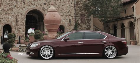 burgundy lexus with black rims lexus ls ritz gallery mht wheels inc