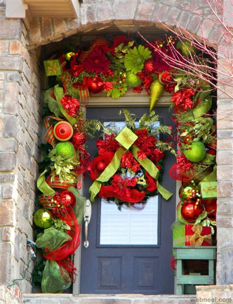 holiday door decorating ideas 25 beautiful christmas door decorating ideas for your
