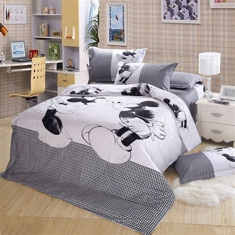 disney mickey minnie mouse bedding set black and white