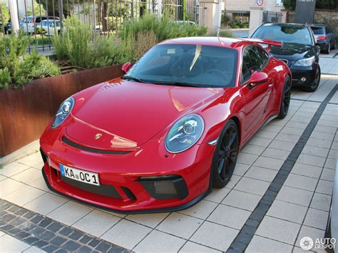 porsche gt3 red carmine red 2018 porsche 911 gt3 is a sight for sore eyes