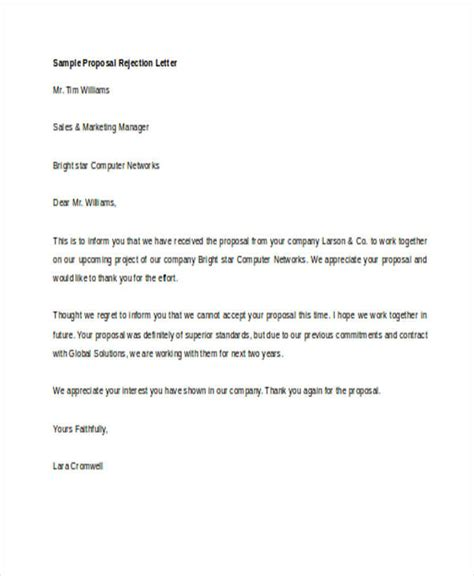Rejection Letter For Marriage 65 exles of free proposals
