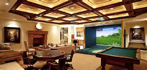 at home in house residential indoor golf simulator