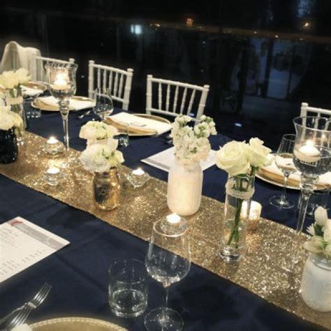 Chemin de table jetable doré avec paillettes pour MARIAGE