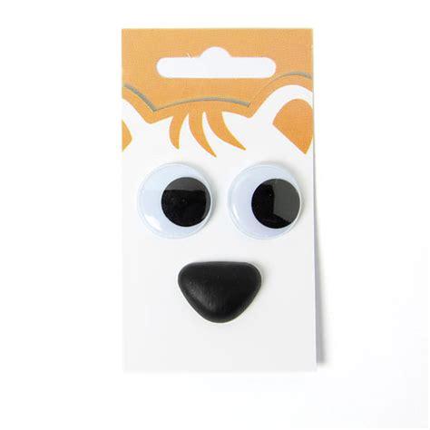 comptoir des animaux yeux vacillants nez d animaux kit 9 boutons blancs