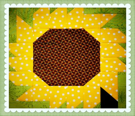 Sunflower Quilt Block Pattern by Sunflower Quilt Pattern Free Quilt Arts And Education