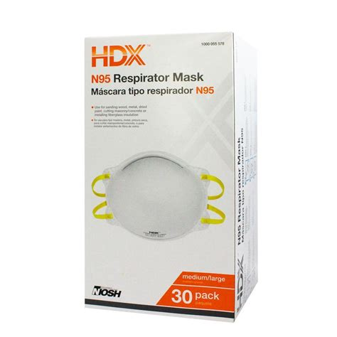 home depot paint mask hdx n95 disposable respirator box 30 pack h950 the