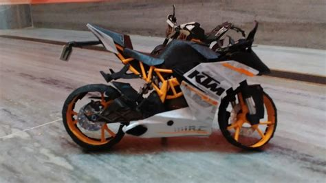 How To Make A Bike Out Of Paper - ktm rc390 bike paper model
