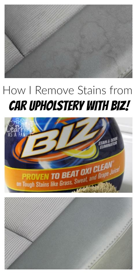 Car Upholstery Stain Remover by How I Remove Stains From Car Upholstery With Biz